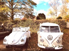 Classic VW wedding hire in Essex